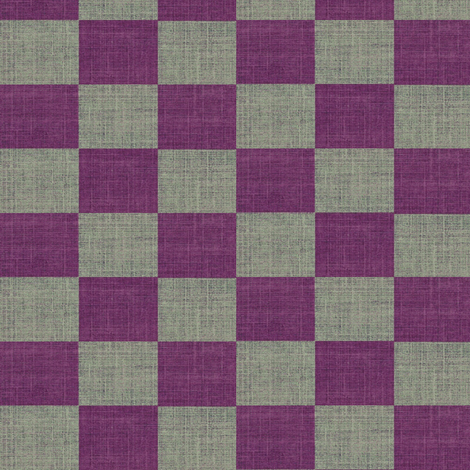 Check Mates - purple and gray fabric by materialsgirl on Spoonflower - custom fabric