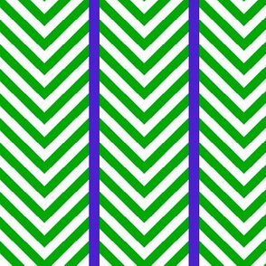 Green Chevrons with Blue Stripes