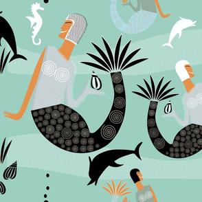 Mermaids (Aqua)