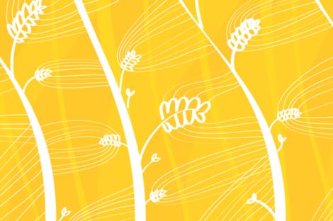 Wheat by Friztin fabric by friztin on Spoonflower - custom fabric
