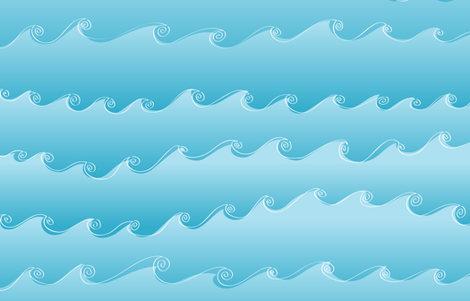 Ocean Waves by Friztin fabric by friztin on Spoonflower - custom fabric