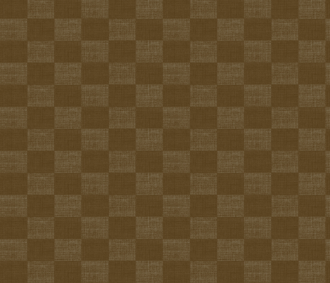 Check Mates - brown fabric by materialsgirl on Spoonflower - custom fabric