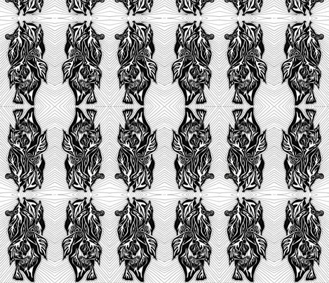 Deco Leaves  fabric by sarahdesigns on Spoonflower - custom fabric
