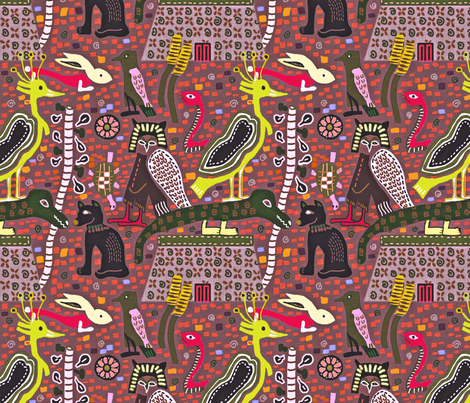 Hieroglyphic Translations fabric by susanpolston on Spoonflower - custom fabric