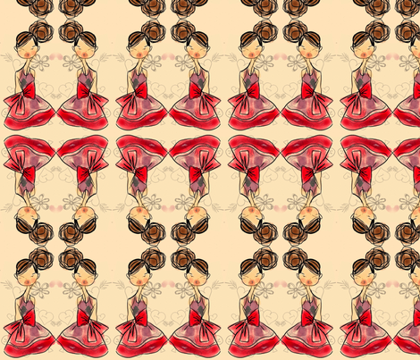 Sweetheart Dance fabric by pink_cupcakes_with_sprinkles on Spoonflower - custom fabric