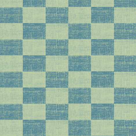 Check Mates - a light blue stonewashed denim look fabric by materialsgirl on Spoonflower - custom fabric