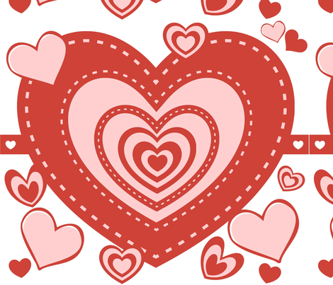 Valentine Heart full of heart fabric by possumspatch on Spoonflower - custom fabric