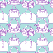 Handbags   Blue and Purple