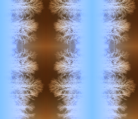 Ghost Forest v2 - more intense blue/brown fabric by jenithea on Spoonflower - custom fabric