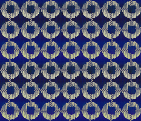 oh_my_blue_ikat fabric by glimmericks on Spoonflower - custom fabric