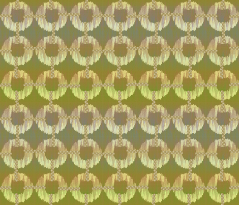 oh_my_khaki_ikat fabric by glimmericks on Spoonflower - custom fabric