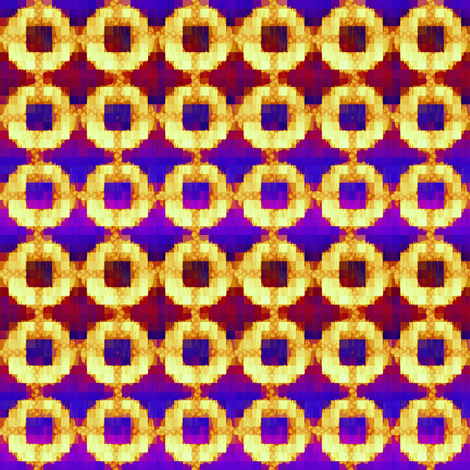 oh_my_primary_pixel_ikat fabric by glimmericks on Spoonflower - custom fabric
