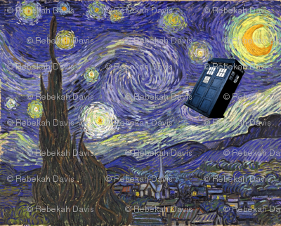 Dr. Who, Van Gogh, Tardis, Starry Night