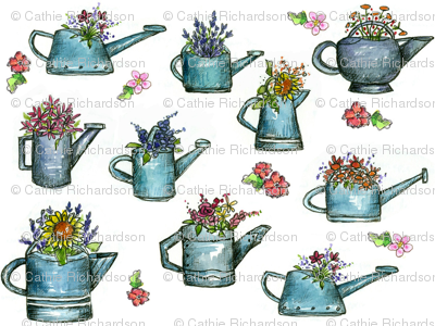 Watering Can Bouquets