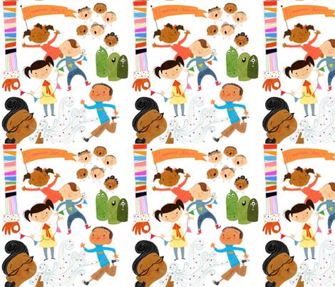 Mimi Doodles  fabric by vnewton on Spoonflower - custom fabric