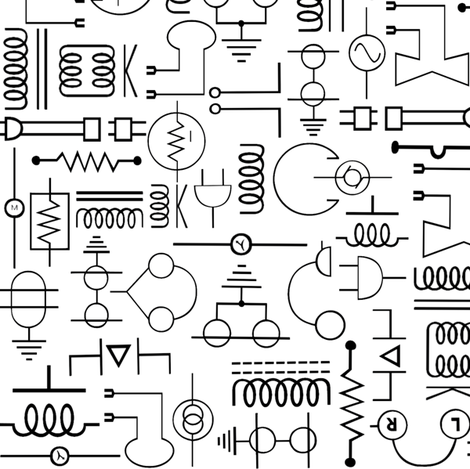Electrical Symbols fabric by jabiroo on Spoonflower - custom fabric