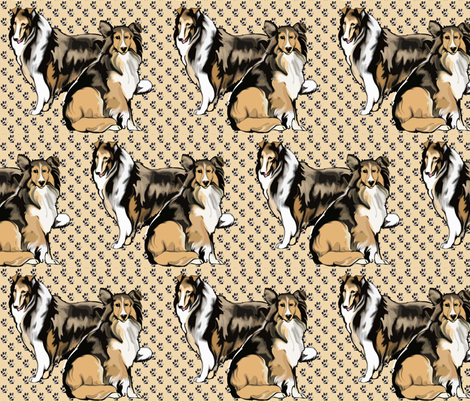 Two Sable Collies fabric by dogdaze_ on Spoonflower - custom fabric