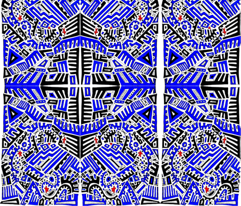 Blue Maze fabric by sarahdesigns on Spoonflower - custom fabric