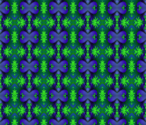 fractal leaves fabric by krs_expressions on Spoonflower - custom fabric