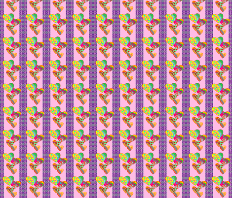 colorful hearts fabric by krs_expressions on Spoonflower - custom fabric