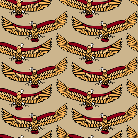 Vultures fabric by pond_ripple on Spoonflower - custom fabric