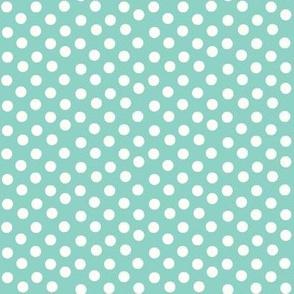 Seafoam Polka Dots