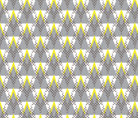 mod triangles fabric by ravynka on Spoonflower - custom fabric
