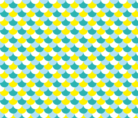 blue and yellow scales fabric by ravynka on Spoonflower - custom fabric