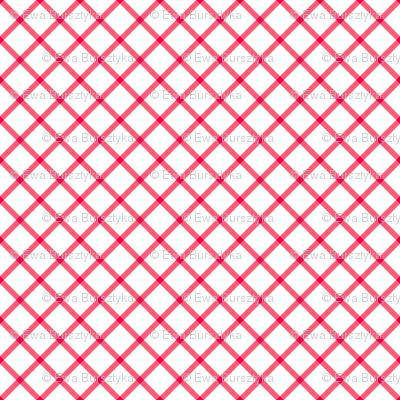 diagonal red check