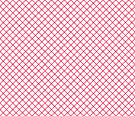 diagonal red check fabric by ravynka on Spoonflower - custom fabric