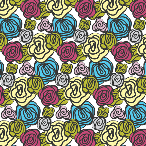 flowers multicolor fabric by ravynka on Spoonflower - custom fabric