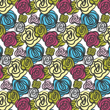 flowers multicolor fabric by ravynka on Spoonflower - custom fabric