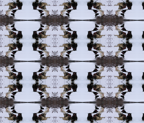 Sled Dogs Through a Kaleidoscope fabric by ravynscache on Spoonflower - custom fabric