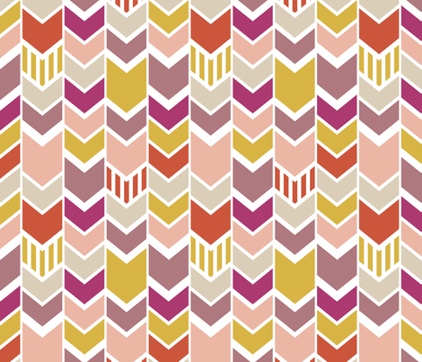 Pellerina Pink Chevron fabric by mrshervi on Spoonflower - custom fabric