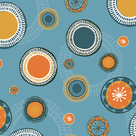 quirky big suns fabric by licoricelove on Spoonflower - custom fabric