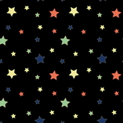 Fabric PopStars black