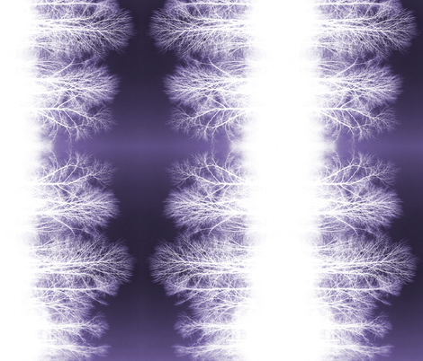 Ghost Forest v2 - purple and white fabric by jenithea on Spoonflower - custom fabric