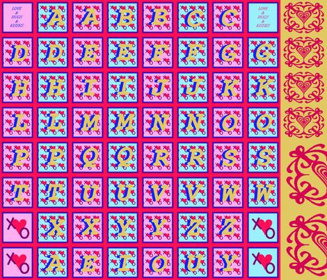 LoveLetters-1 fabric by grannynan on Spoonflower - custom fabric