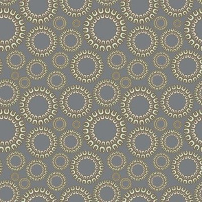 Dancing Dots in slate gray
