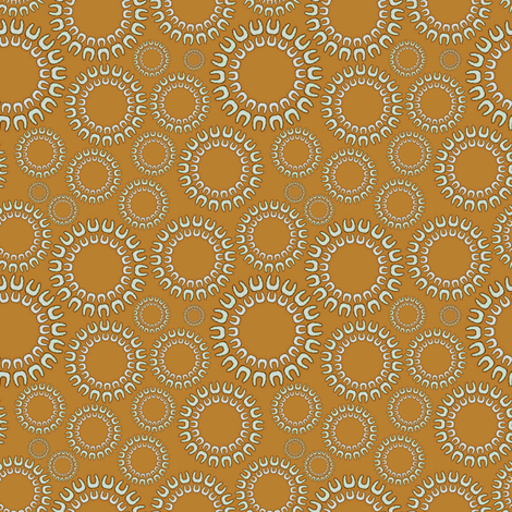Dancing Dots beige fabric by joanmclemore on Spoonflower - custom fabric