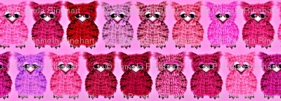Fuzzy Pink Owlettes