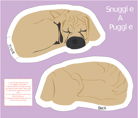 Snuggle A Puggle fabric by lirib on Spoonflower - custom fabric