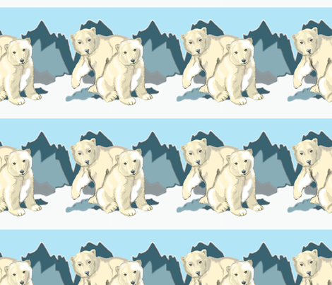 Polar Bears  fabric by dogdaze_ on Spoonflower - custom fabric