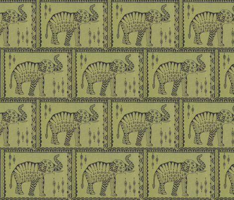 African Elephant fabric by katiame on Spoonflower - custom fabric