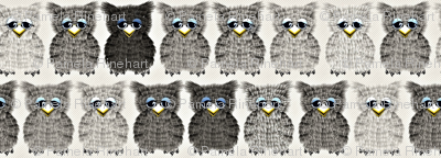 Fuzzy Gray Owlettes2