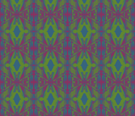 Municipal Diamonds-Bright fabric by mbsmith on Spoonflower - custom fabric