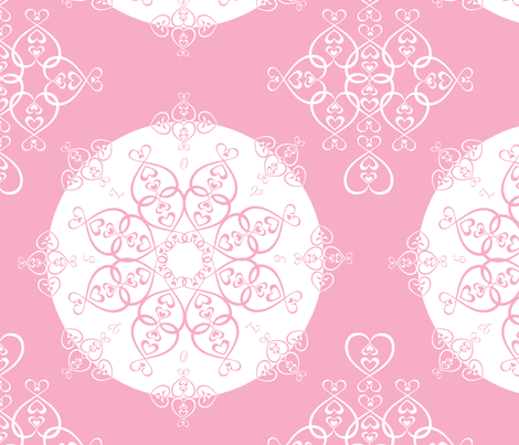 Filligree Hearts fabric by heather_b_design on Spoonflower - custom fabric