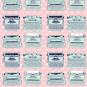 Typewriters Triangle Pink