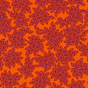 Blazing Leaves - purple orange