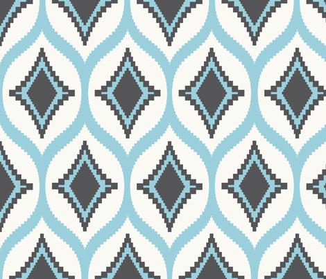 Aztec Diamond Harbour fabric by crisbucknall on Spoonflower - custom fabric